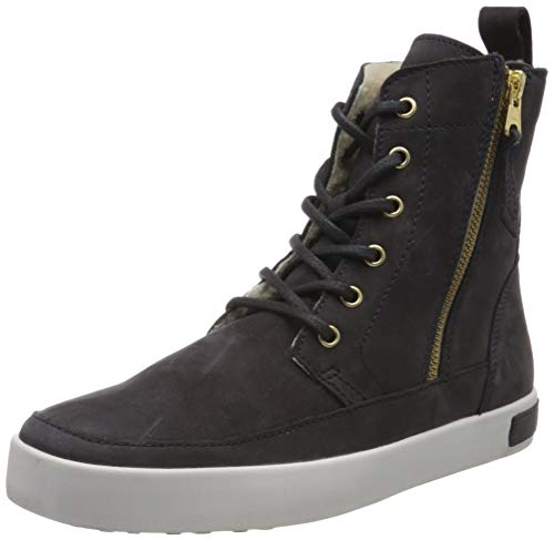 Blackstone Damen CW96 Hohe Sneaker, Blau (Nine Iron Nine), 42 EU