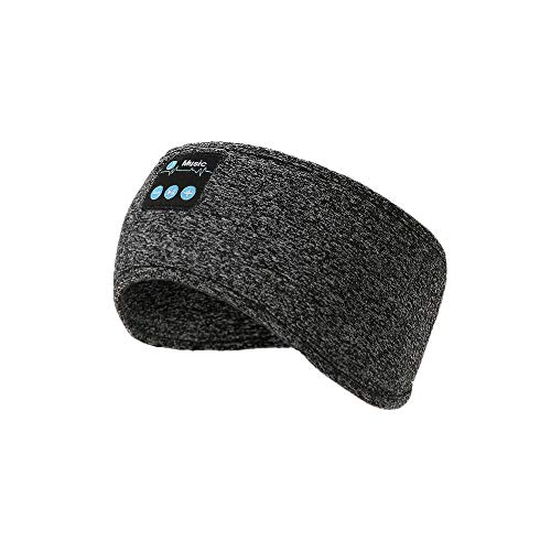 Sleep Headphones, Bluetooth Headband Wireless Music Sports Headband with Mic for Sleeping Workout Long Time Pay for Running, Yoga (Gray)