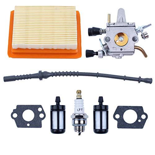 Adefol Vergaser Luftfilter Zündkerze Kit für Stihl FS350 FS300 FS250 FS120 FS200 R FS020 FS202 Ersatzteil Kraftstofffilter