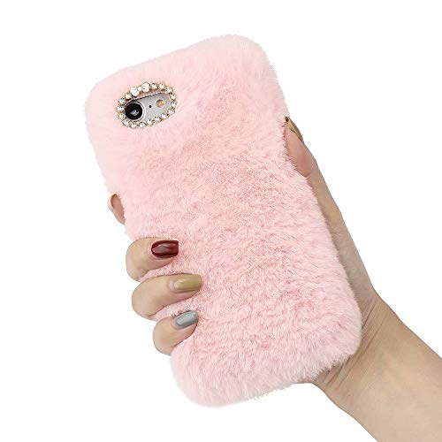 for iPhone 6 Plus iPhone 6S Plus Plush Case Girls Luxury Fluffy Furry Case...