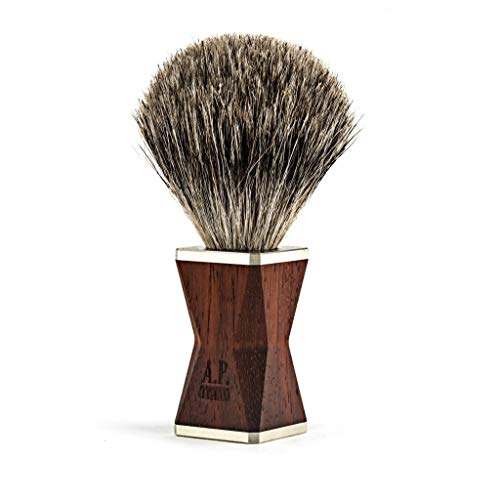 A.P. Donovan - Rasierpinsel Dachshaar Rasierset Barber-Shop - handgefertigt - made in Germany - Griff ist aus Padouk Holz