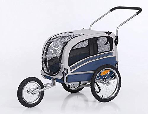 Sepnine Remorques Vélo pour Chiens pour Animaux De Compagnie De Remorque De Vélo De Chien Pliant pour Le Kit De Jogging De Vélo Bleu