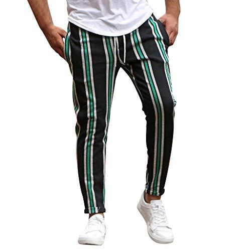 KaloryWee 2020 Frühling Herbst Personalisierte Gestreifte Patchwork Freizeithose Arbeitskittel Streetwear Slim Fit Geschäft Business Komisch Anzughose