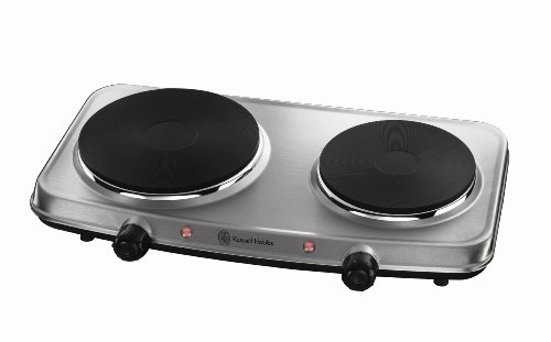 Russell Hobbs 2 Plate Mini Hot Plate Hob 15199, 1500 W - Stainless Steel