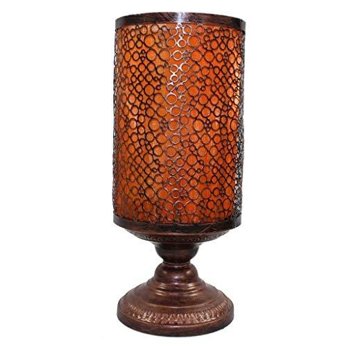 Rnwen Lámpara de Escritorio Lámpara de Mesa, lámpara de Noche para ni?os Hecha a Mano, lámpara de Mesa Simple Griega, lámpara de Mesa Decorativa rococó de jardín (Fuente de luz:E14)