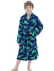 1. Simplicity Boys Toddler Dinosaur Bathrobe