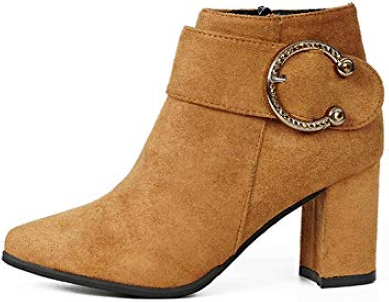 HOESCZS Damenschuhe Spitz Stiefel Damen High Heels Dick Mit Mit Wild Fashion Martin Stiefel Frauen  Fabrikverkauf