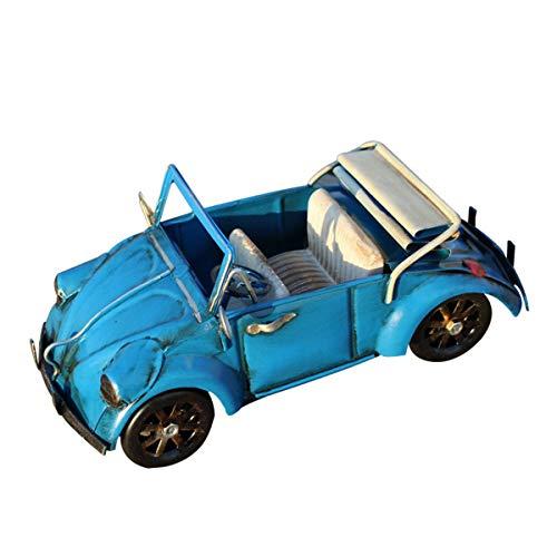Home Kreative Retro Schmiedeeisen Handköpfe Ornamente Vintage Auto Eisen Modell Vintage Fahrzeug Wohnkultur (Color : Blue, Size : 19x8x8cm)