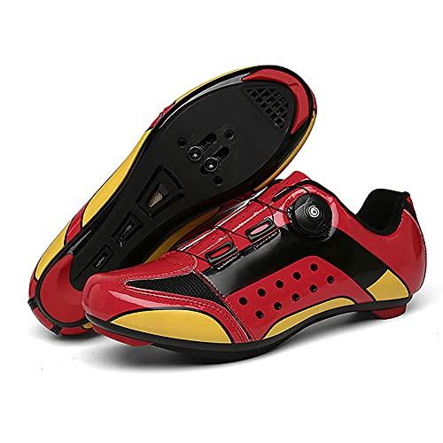 DSMGLRBGZ Zapatillas MTB, 36-47 Transpirables Antideslizante, Amortiguadoras Resistentes a la Flexión para Hombre Mujer Zapatillas Niño Niña Carretera MTB,Blanco,37