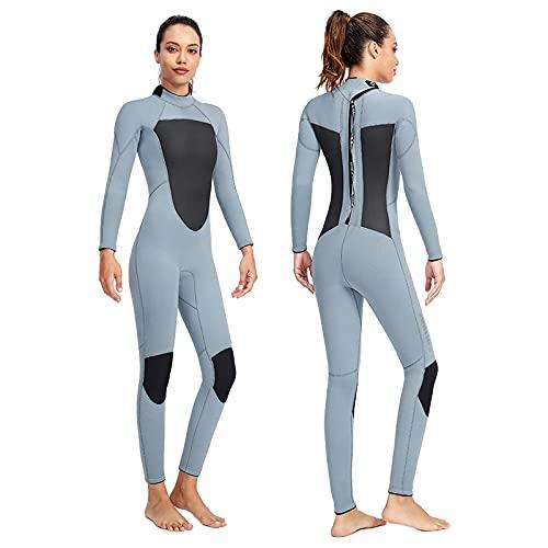 XBSXP Traje de Buceo de Manga Larga de 3 mm Traje de Neopreno de triatlón para Mujer Traje de Surf de Neopreno de Piel Suave para Hombre para Nadar en Aguas Abiertas Esnórquel Windsurf K