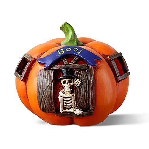 HUBLEVEL Resina de Halloween Jack-O - Linterna Bar Habitacion Secreta DecoracióN de la Casa Encantada AtmóSfera de Escritorio del Centro Comercial del Festival Embrujado 1 Pieza