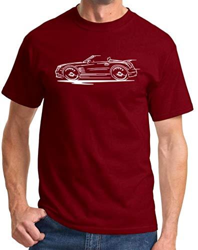 Chrysler Crossfire Convertible Redline Series Classic Print Tshirt X-Large Maroon