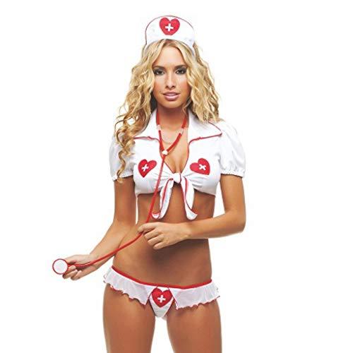 Yazidan Frauen Sexy Nachtwäsche Dessous Versuchung Krankenschwester Uniform Unterwäsche- Lingerie Dessous-Sets Pflegeuniformen Krankenschwester Kostüm Nurse Uniforms Cosplay Rollenspiele