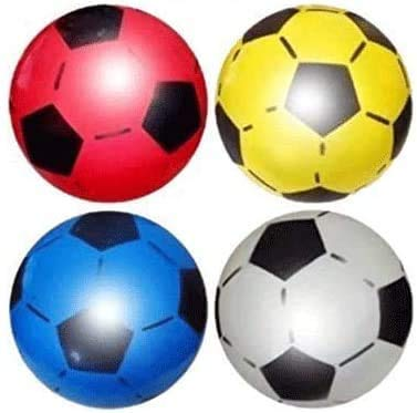 (Pack of 6) Soccer Shoot PVC football For Kids Lightweight Party pack Adjustable Inflatable ball Suitable For Indoor Outdoor Play Beach, Park, Home, Birthday, School And Parties Assorted Colors
