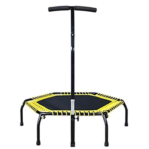 mDesign Oefening Trampoline voor volwassenen - Indoor Fitness met verstelbare handvat Bar voor kinderen - met Cover en vouwen weg voor kleine eenvoudige opslag