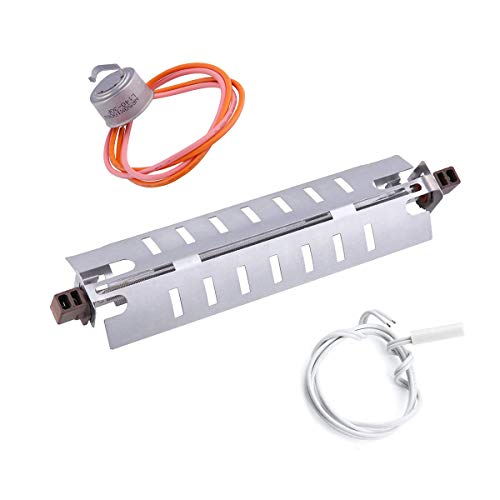 Price comparison product image WR51X10055 Refrigerator Defrost Heater Replacement WR55X10025 Temperature Sensor & WR50X10068 Defrost Thermostat Compatible with General Electric Refrigerator Replaces WR51X10030 AP3183311