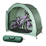 H&ZT Bike Storage Tent Tricycle Cover Storage Shed Tent Durable Polyester Waterproof Anti-Dust Portable Foldable Bike Tent W/ Ground Nail