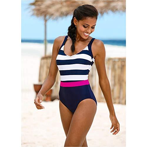 Traje de baño de una pieza 2021 nuevo traje de baño de una pieza para mujer clásico vintage trajes de baño ropa de playa sin espalda delgada traje de baño M~2XL Bikini (color: LK03, talla: XXL)