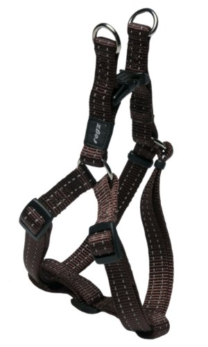 Rogz Utilidad pequeña 3/8-inch NITELIFE Reflectante Ajustable Perro Step-in-Harness