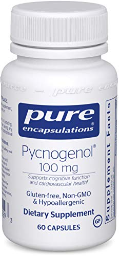Pure Encapsulations - Pycnogenol 100 mg - Hypoallergenic Supplement to Promote Vascular Health and Provide Antioxidant Support - 60 Capsules
