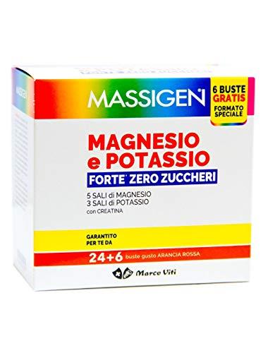 2 x Massigen Magnesio e Potassio Forte - Funzione muscolare - Riduzione Stanchezza e Affaticamento.