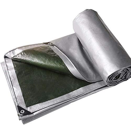 ADELALILI Lonas Tarjetas y Lonas Premium Poly Heaven Heavy Duty Tarp Rincones Reforzados Bordes en Tarpaulina Resistente a los lágrimas Overhouse Pet Hutch Roof (Tamaño : 4x4m/13x13ft)