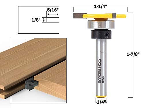 Yonico 14914q 1/8-Inch x 5/16-Inch Top Bearing Slot Cutter Router Bit 1/4-Inch Shank