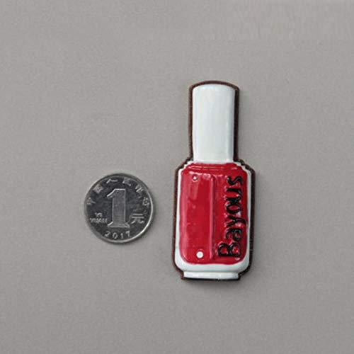 Lyt Stereo nagellak koelkast magneet rode fles creatieve simulatie papieren bericht sticker foto pasta thuis kitLyt