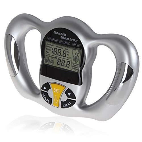 ZUKN Elektronisches Körperfett-Messgerät, Handgriff-Fettmessgerät-Digital-Handkörper-Gewicht-Verlust-Prüfvorrichtung-Gesundheitspflege-Monitor