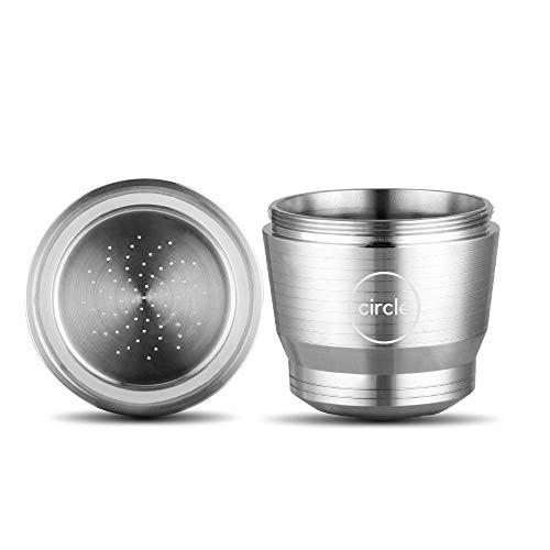 Kaffee Kapsel für Nespresso wiederverwendbar - reusable coffee capsule - Set mit Reinigungspinsel und Löffel - comes with spoon and brush - kompatibel mit gängigen Maschinen - type compatible