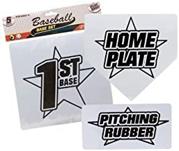 Baseball Base Set with Home Plate and Pitchers Mound by Greenbrier
