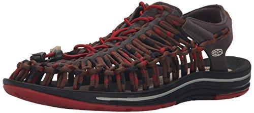 Keen Uneek Stripes, Sandales de Randonnée Homme, Multicolore Red Dahlia Raya, 42 EU