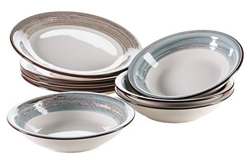 Mäser 931376 Serie Duole - Juego de platos para 4 personas, 8...