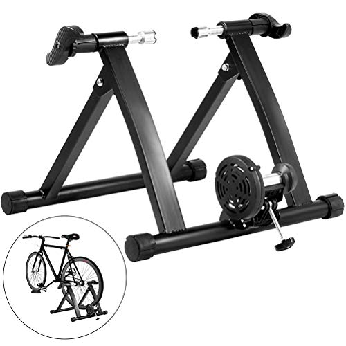GOLDGOD Silencio Plegable Rodillo para Bicicleta, Estable Triangular Rodillo De Ciclismo Resistencia...