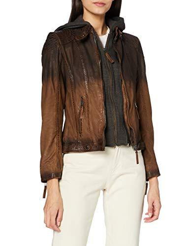 Gipsy Damen GGCascha LAMOV Jacke, Antique Brown, X-Small