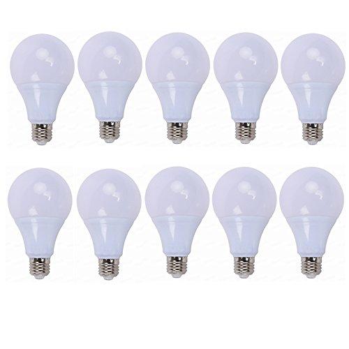 Hoogwaardig LED-licht pak van 10 12 volt gloeilampen -Laagspanning-LED-lamp, AC/DC 12-24 volt, E27/E26 fitting, komt overeen met 40-50 W gloeilamp, 3000 K/6000 K voor RV Camper Marine, netonafhankelijk.