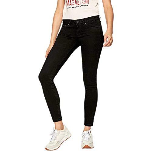 Pepe Jeans Pixie Jeans, Nero, 29 W - 30 L Donna
