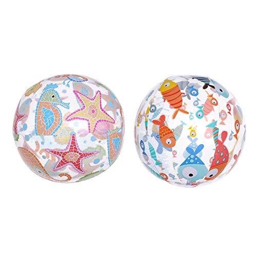 BESPORTBLE 2 STÜCKE Wasserbälle Wasser Bälle Aufblasbare Kugel für Sommer Pool Party Spaß Spiele Aktivitäten - 51 cm / 20 Zoll