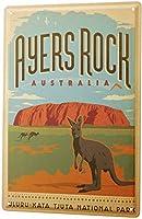 ティンサイン世界旅行エアーズロックオーストラリアカンガルー国立公園装飾用ウォールプレート