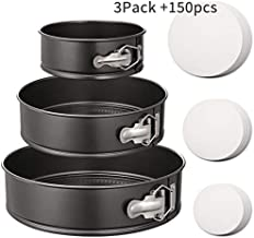 Hiware Springform Pan Set of 3 Non-stick Cheesecake Pan, Leakproof Round Cake Pan Set Includes 3 Pieces 6