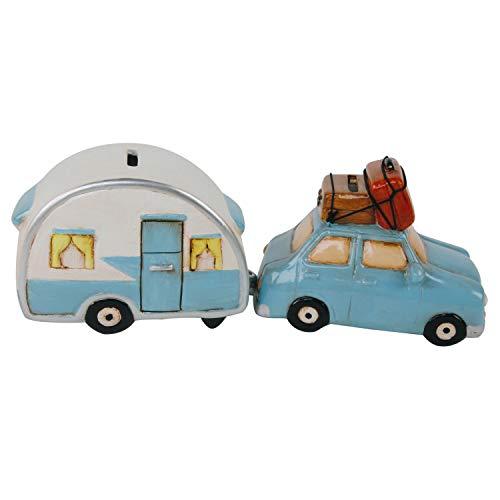 Roomando 2er-Set Spardose Urlaub Auto mit Wohnwagen