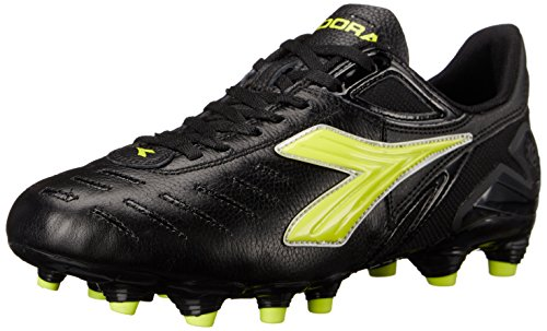 Diadora Women's Maracana L W Soccer Shoe, Black/Yellow, 9.5 M US