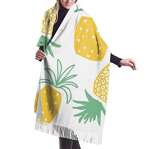 Tengyuntong Pashmina Wrap Manta Bufanda, Mujer Pashmina Bufanda, Piñas Frutas Envolturas Y Chales Para Vestidos De Noche | Cashmere Warm Feeling | Tamaño Grande
