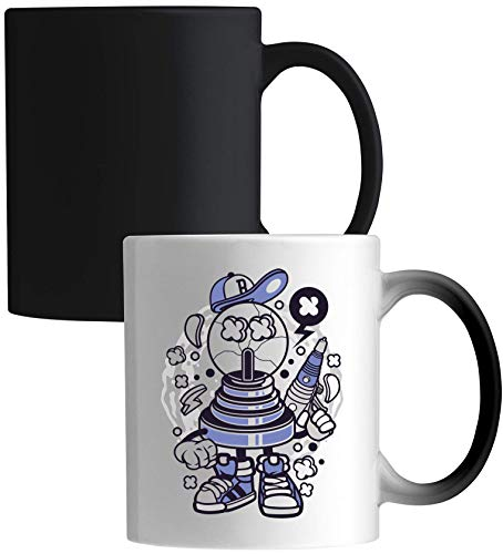 Fortune Ball Laser Pistol Urban Cartoon Art Ceramic Magic Mug