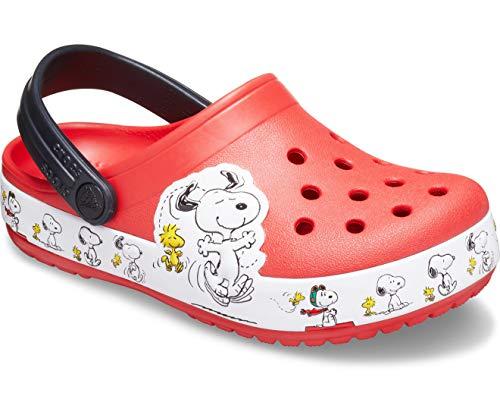 crocs Unisex-Kinder FL Snoopy Woodstock Cg K Freizeit Flip Flops Sportwear, Multicolor (Flamme), 30 EU