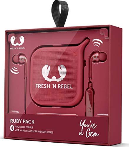 Fresh 'n Rebel Cloud Pack Mono-Lautsprecher, tragbar, 1,0 Kanäle, kabellos, Micro-USB, tragbarer Mono-Speaker, Rot
