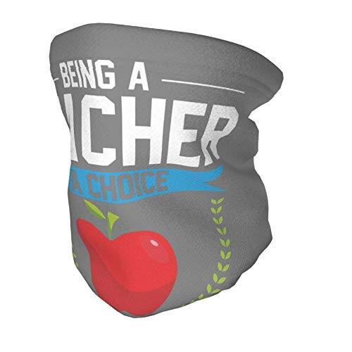 Neck Warmer For Kids Face Mask The Day The Teacher Retired Neck Gaiter Reusable Black