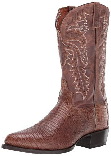 Dan Post Boots Mens Winston Lizard Round Toe Western Cowboy Dress Boots Mid Calf - Brown - Size 10.5 2E