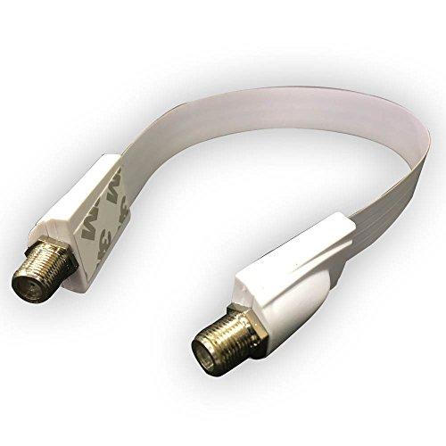 プロテック すき間 フラット アンテナ ケーブル 横方向折り曲げ可能 取り付け用両面テープ付 約30cm SE-F01-W (ホワイト)