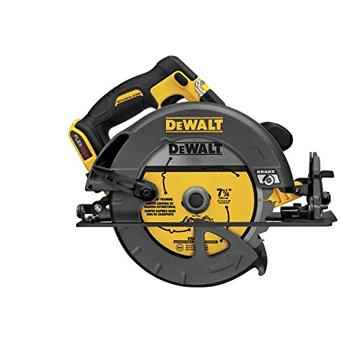 DEWALT FLEXVOLT 60V MAX Circular Saw with Brake Kit, 7-1/4-Inch, Brushless (DCS575T2)